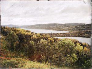 Вид в сторону Большого Урагубского озера в окрестностях 52-й площадки