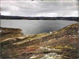 Вид с сопки на северную часть Большого Урагубского озера, сентябрь 2019 года